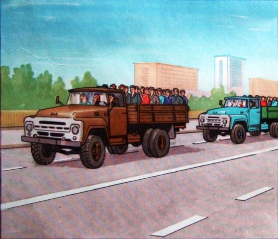 Эвакуация на транспортных